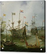 The Return To Amsterdam Of The Second Expedition To The East Indies Acrylic Print