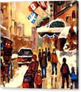 The Ritz Carlton Montreal Streetscene Acrylic Print