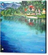 the river Adda Acrylic Print