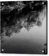 The River In Black And White Acrylic Print