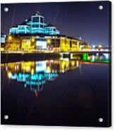 The River Liffey Night Romance 2 Acrylic Print