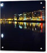 The River Liffey Night Romance Acrylic Print