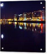 The River Liffey Night Romance V2 Acrylic Print