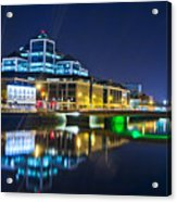The River Liffey Reflections 4 Acrylic Print