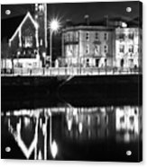 The River Liffey Reflections Bw Acrylic Print