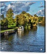 The River Thames At Wallingford Acrylic Print