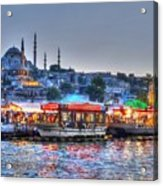 The Riverboats Of Istanbul Acrylic Print