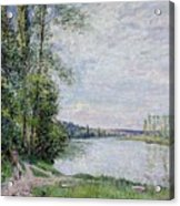The Riverside Road From Veneux  Acrylic Print