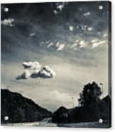 The Road And The Clouds Acrylic Print