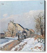 The Road From Gisors To Pontoise Acrylic Print by Camille Pissarro