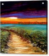 The Road Home Acrylic Print by Addie Hocynec