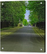 The Road On A Border Of Royal Park Acrylic Print
