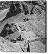 The Road To Ladakh Bw Acrylic Print