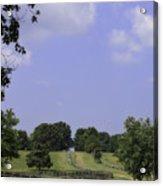 The Road To Lynchburg From Appomattox Virginia Acrylic Print