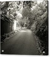 The Road To Nowhere Or Is It Acrylic Print