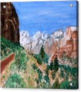 The Road To Zion Acrylic Print