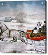 The Road-winter, 1853 Acrylic Print