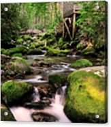 The Roaring Fork And Reagan's Mill Acrylic Print by Thomas Schoeller