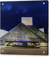 The Rock And Roll Hall Of Fame At Dusk Acrylic Print