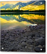 The Rockies Reflected At Lake Annettee Acrylic Print