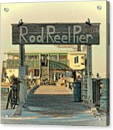 The Rod And Reel Pier Vintage   Acrylic Print
