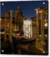 The Roman Forum At Night Acrylic Print