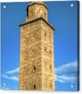 The Roman Lighthouse Known As Tower Of Hercules Acrylic Print