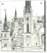 The Roofs Of Novi Sad Acrylic Print