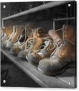 The Room Of Lost Soles Acrylic Print by Lori Deiter
