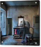 The Room Of The Castle Of The Phantom Of The Mirror Paint Acrylic Print