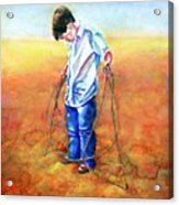 The Roping Lesson Acrylic Print