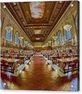 The Rose Main Reading Room Nypl Acrylic Print