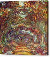 The Rose Path Giverny Acrylic Print by Claude Monet