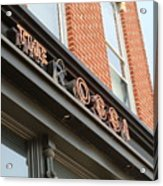 The Rossi Tavern Sign Acrylic Print