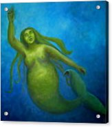 The Rotund Mermaid Acrylic Print