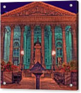 The Royal Exchange In The City London Acrylic Print