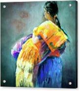 The Rug Girl Acrylic Print