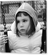 The Sad Girl On A Swing Acrylic Print