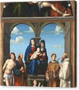 The Saint Anne Altarpiece From San Frediano Lucca Acrylic Print