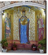The Saints Are Waiting By The Parking Place Acrylic Print