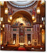The Sanctuary Of Saint Matthew's Cathedral Acrylic Print