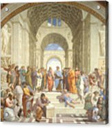 The School Of Athens, Raphael Acrylic Print