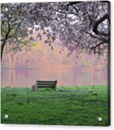 The Schuykill River At Kelly Drive In The Spring Acrylic Print