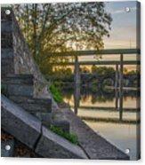 The Schuylkill Steps - East Falls - Philadelphia Acrylic Print