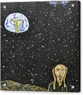 The Scream And Planets  Acrylic Print