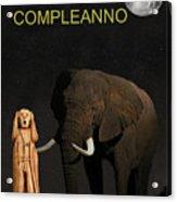 The Scream World Tour African Elephant Happy Birthday Italian Acrylic Print