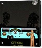 The Scream World Tour Football Tour Bus Acrylic Print by Eric Kempson