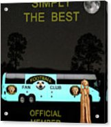 The Scream World Tour Football Tour Bus Simply The Best Acrylic Print