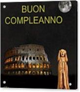 The Scream World Tour Rome Happy Birthday Italian Acrylic Print