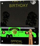 The Scream World Tour Tennis Tour Bus Happy Birthday Acrylic Print by Eric Kempson